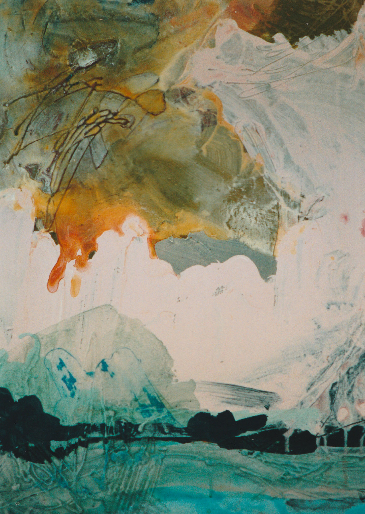 seascape 7, acrylic on canvas, 1998, 40 x 60cm sold