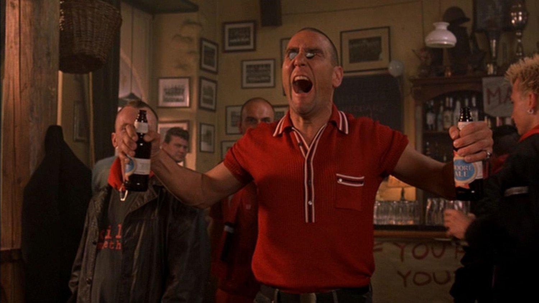 A soccer hooligan, as lampooned in Eurotrip (2004)