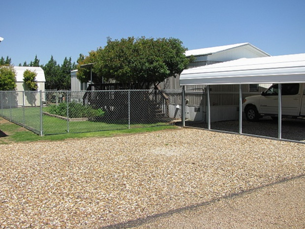We allow custom porches, storage sheds and carports