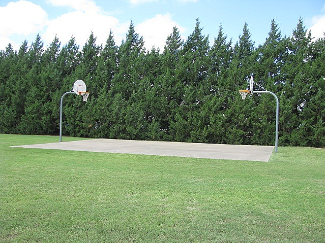 Playground with a basketball court