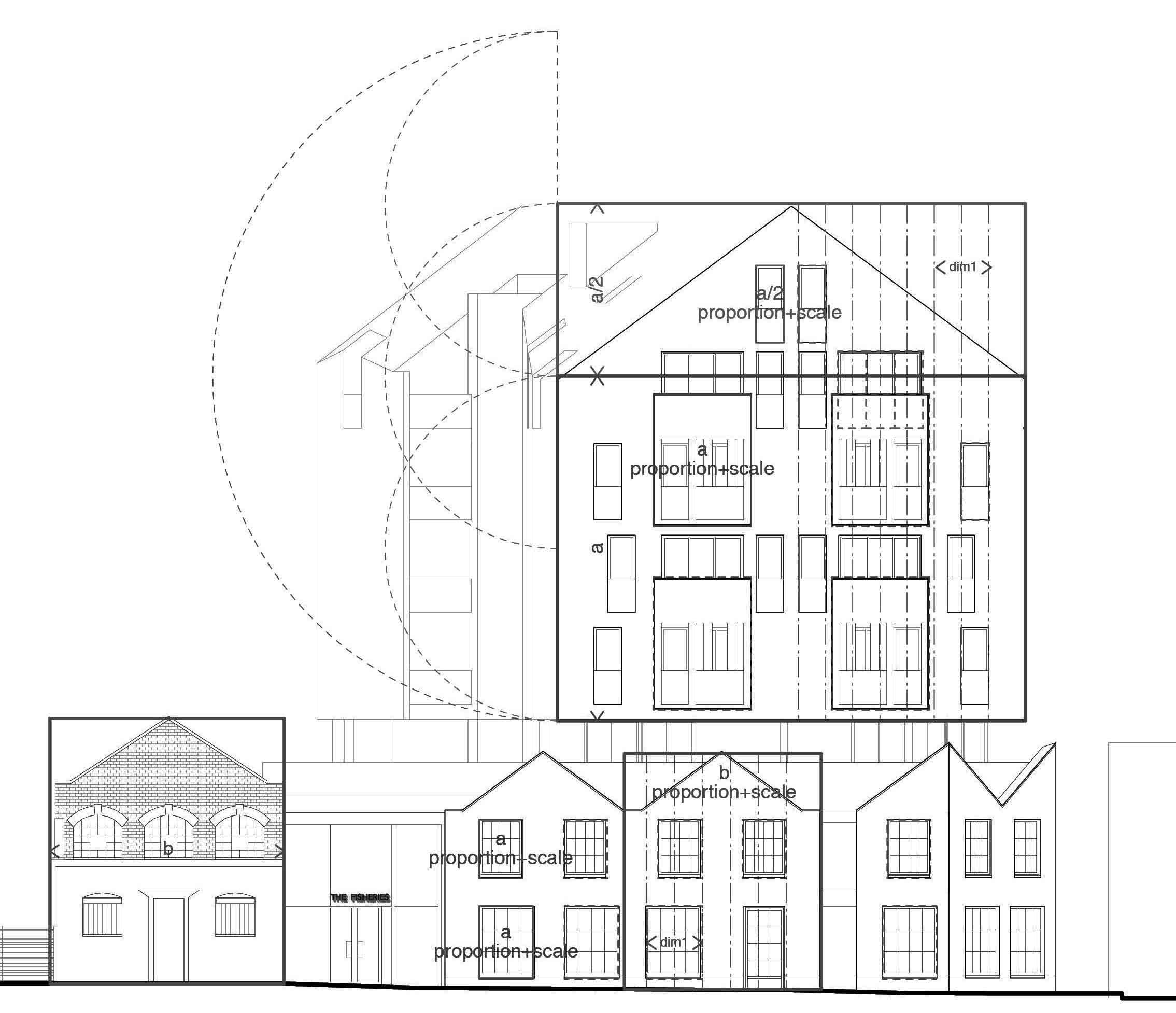 Street elevation diagram.