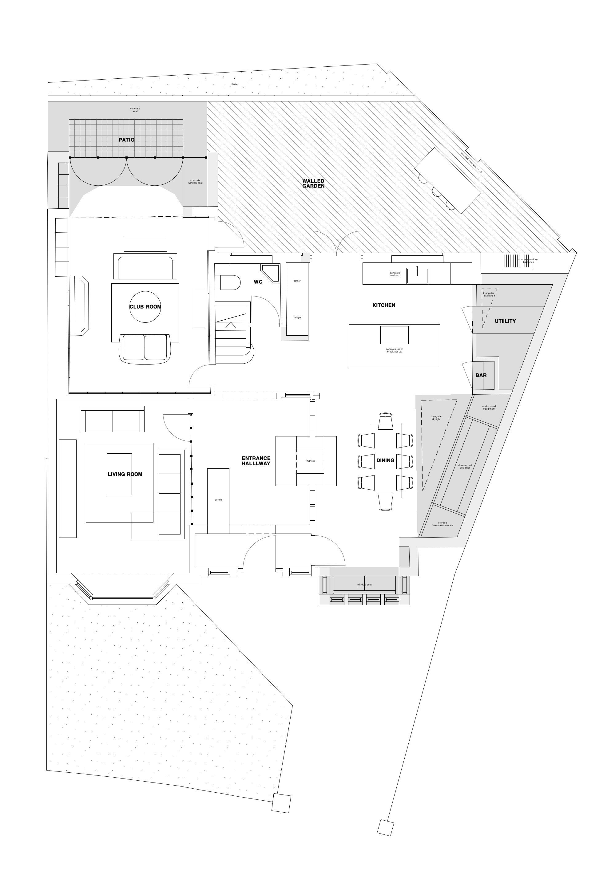 Proposed Ground Floor Plans (additions in grey)