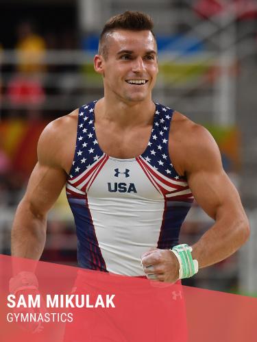 SAM MIKULAK   Hometown: Newport Coast, CA  College: University of Michigan  2x Olympian  Twitter:  @SamuelMIkulak   Facebook:  @SamuelMIkulak