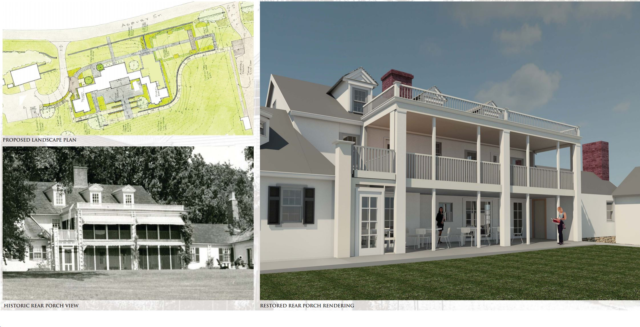 Rendering by Spencer, Sullivan & Vogt of restored rear of property