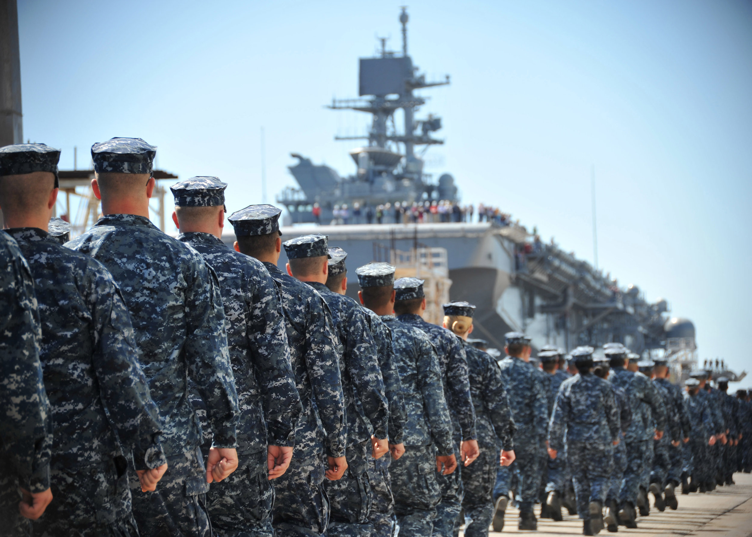 """""""Sailing America: Beginning of Newest Amphibious Assault Ship's Legacy on Sea"""" by Navy Live."""