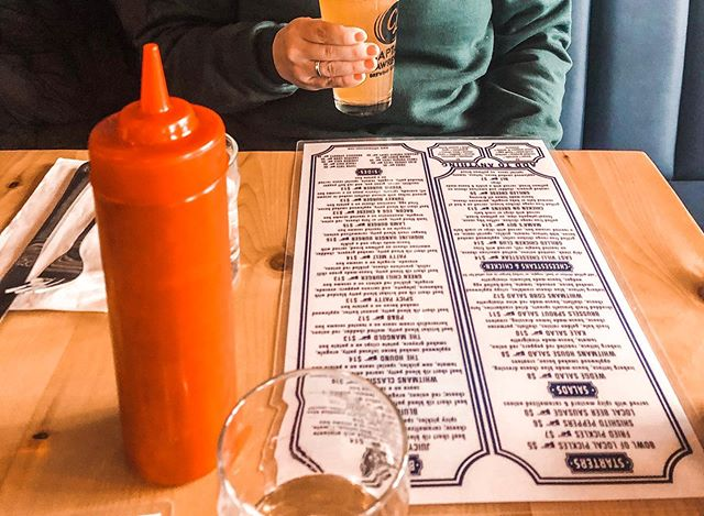 Cold beer while perusing the menu? Yes please!
