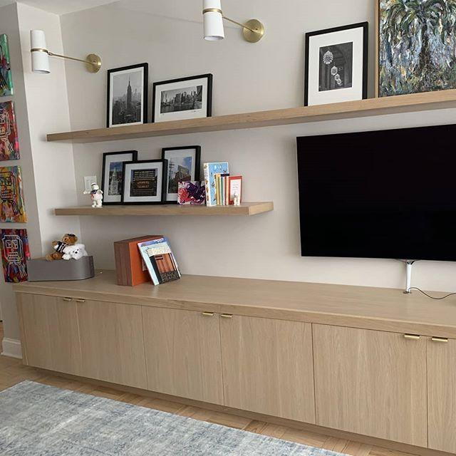 Cabinets in the wild.  #floatingshelves #entertainmentunit #brooklynnavyyard #cabinetmaker #brooklynwoodworking #newyorkcitywoodworking #nycwoodworking #robertkalka #robertkalkacustomwoodworking