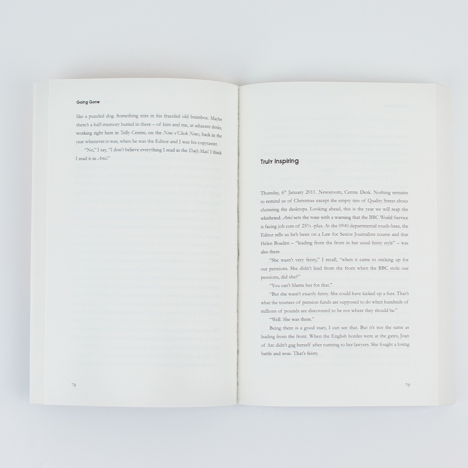 typesetting - Interior page design for a trilogy of journalism memoirs