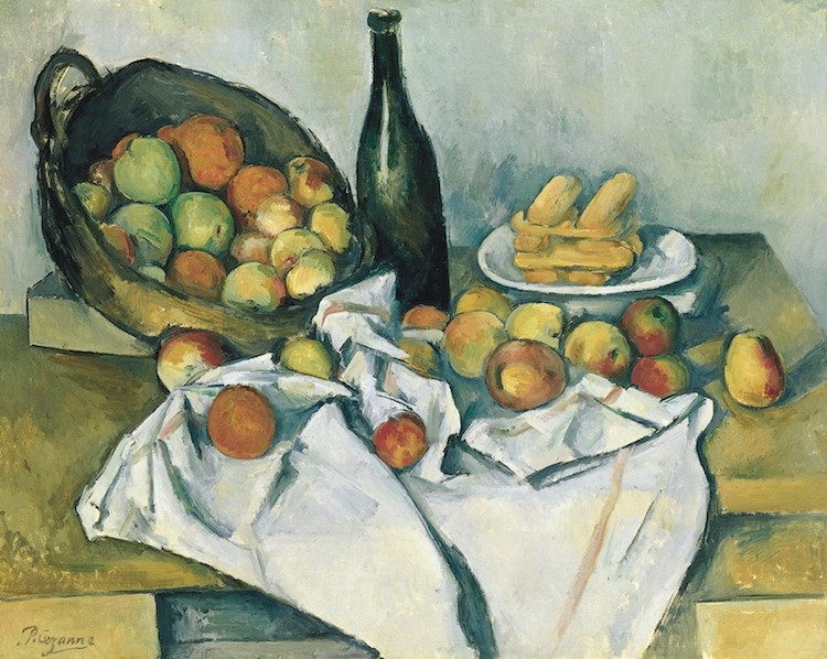 Paul Cézanne, The Basket of Apples' (ca. 1895) (Photo via    Wikimedia Commons    Public Domain)