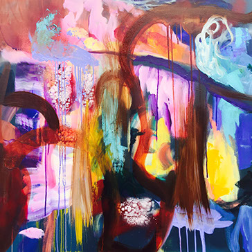 Steady, Acrylic on Canvas 36x36 in.