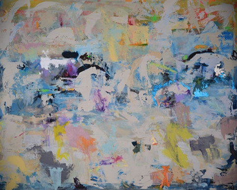 Parallel Opinions, Acrylic On Canvas 48x72 in.