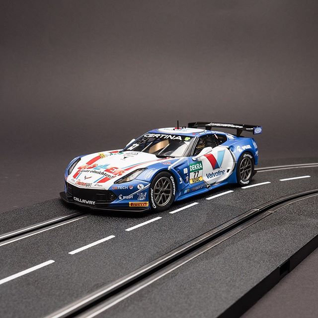 "Jules Gounon had already enjoyed plenty of success, and in Zandvoort in the Netherlands in his Chevrolet Corvette C7.R Callaway Competition ""No. 77"" he was able to show what a great rework of the classic racer they had produced.  #slotcars #DIGITAL124 #chevrolet #carreramoments #racing #cars #corvette #carrera #amazingcar #slotracing"