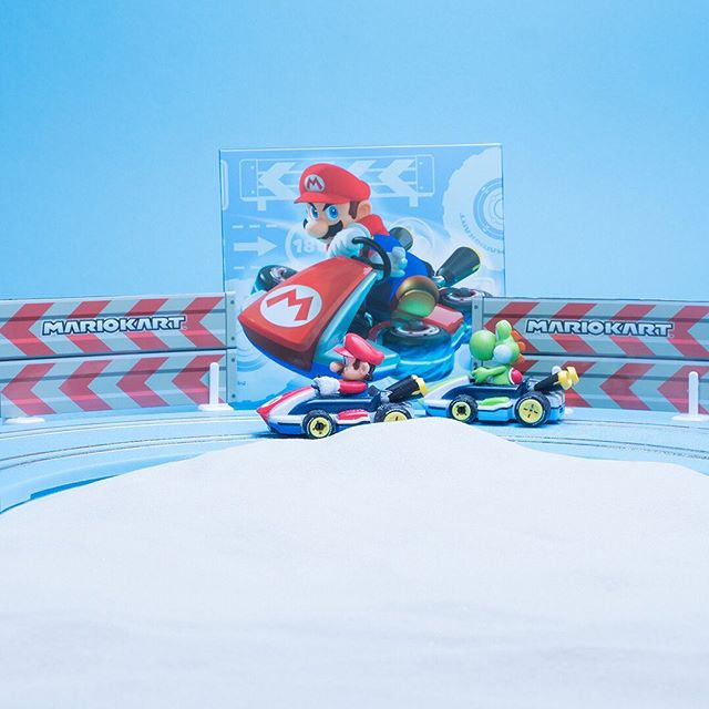 Mario or Yoshi – Who is going to win that race through the beach?  #carreramoments #racing #slotcars #slotrace #fun #mario #yoshi #supermario #carrerafirst #firstthingsfirst #fun #summer #beach #winner #mariokart