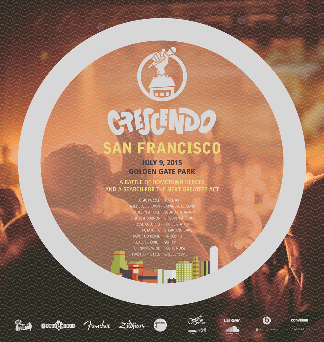 San Francisco regional festival poster