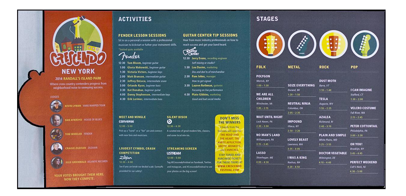 New York regional festival schedule