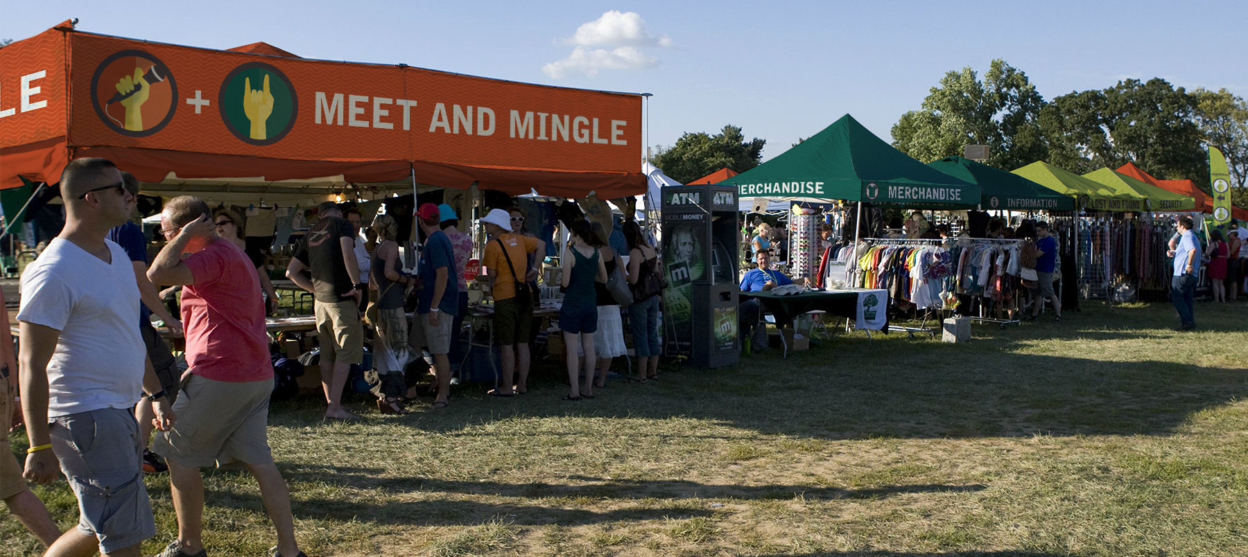 Festival tent and sign design