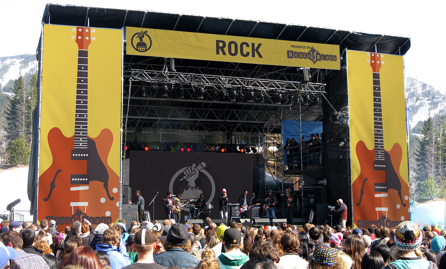 Rock competition stage