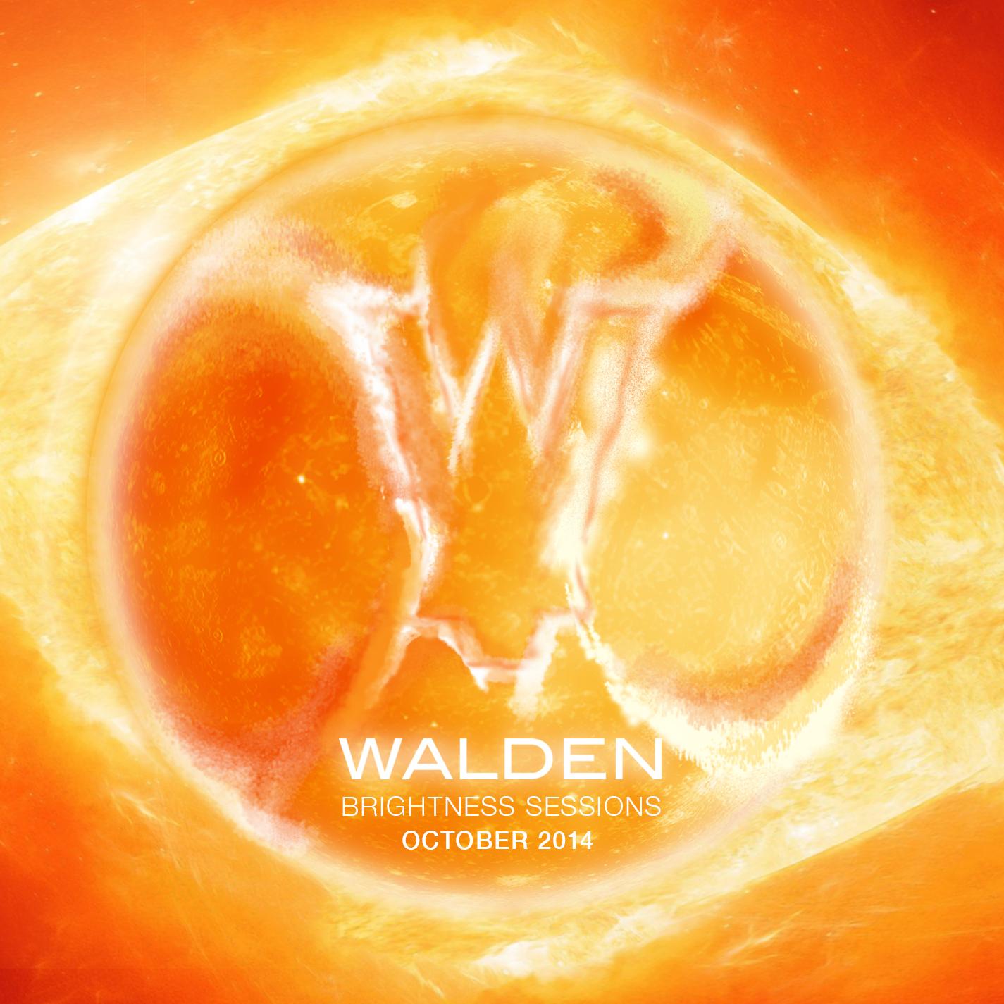 "Single cover design for Walden's ""Brightness Sessions"""