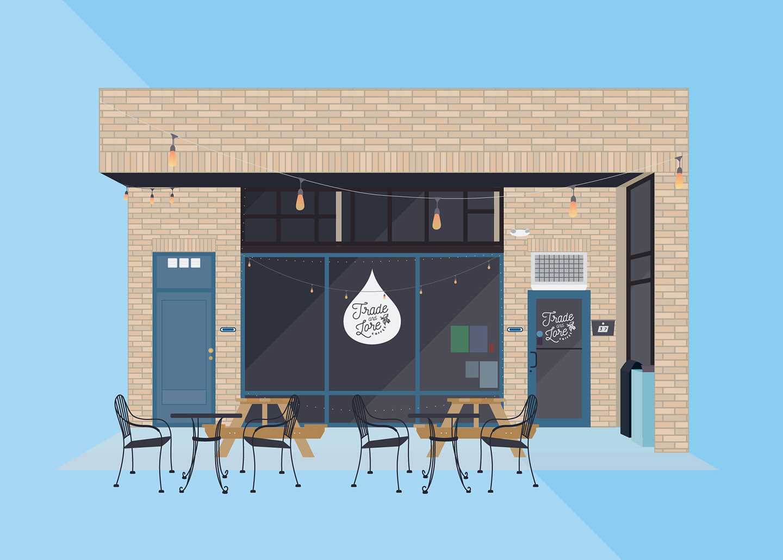 Trade & Lore Coffee, Wall Street, Asheville