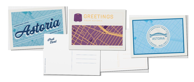 Astoria, Queens, map postcards