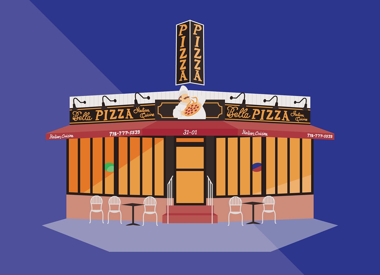 Bella Pizza, Newtown Avenue, Queens