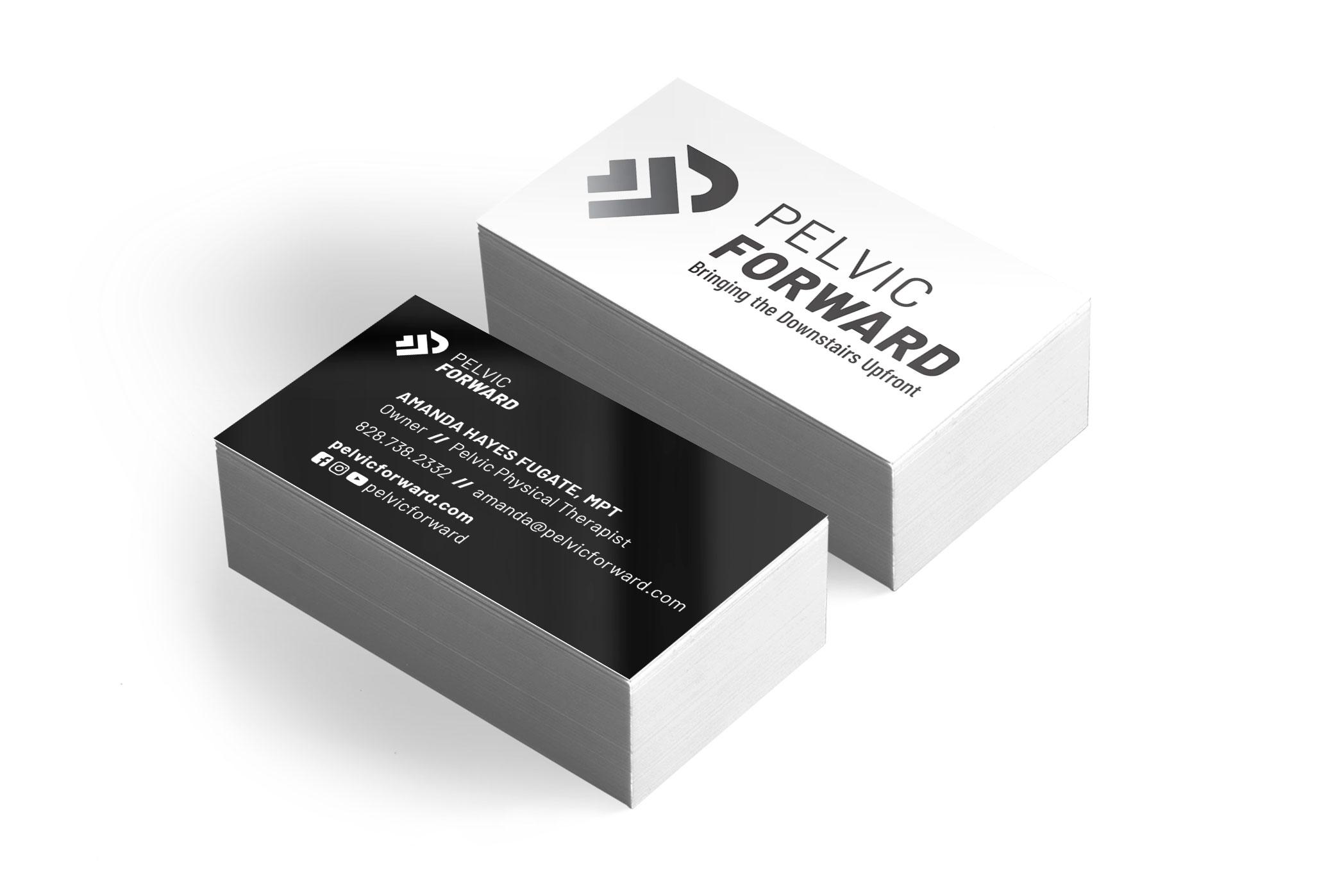Pelvic Forward's business card design