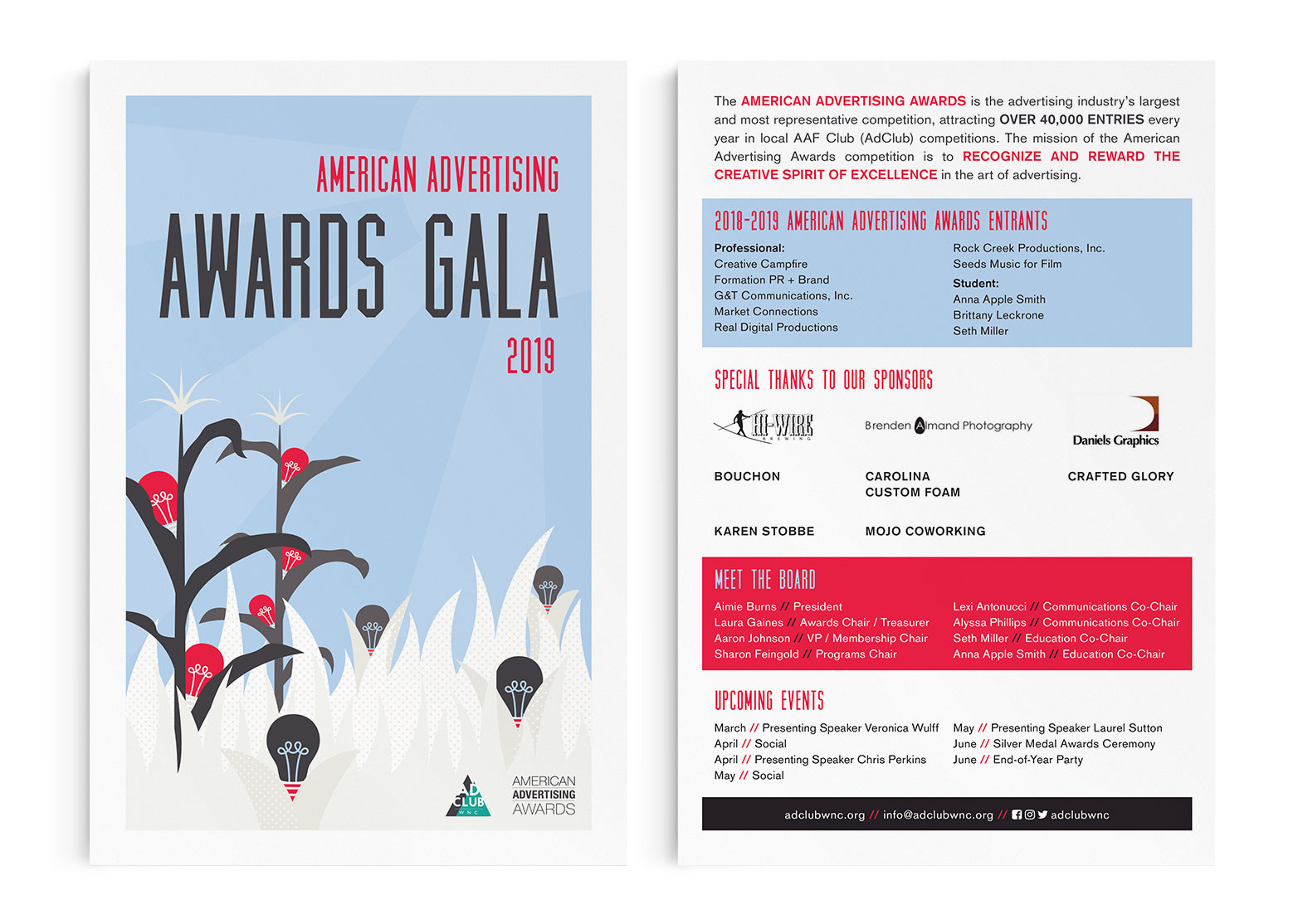 2019 Awards Gala program