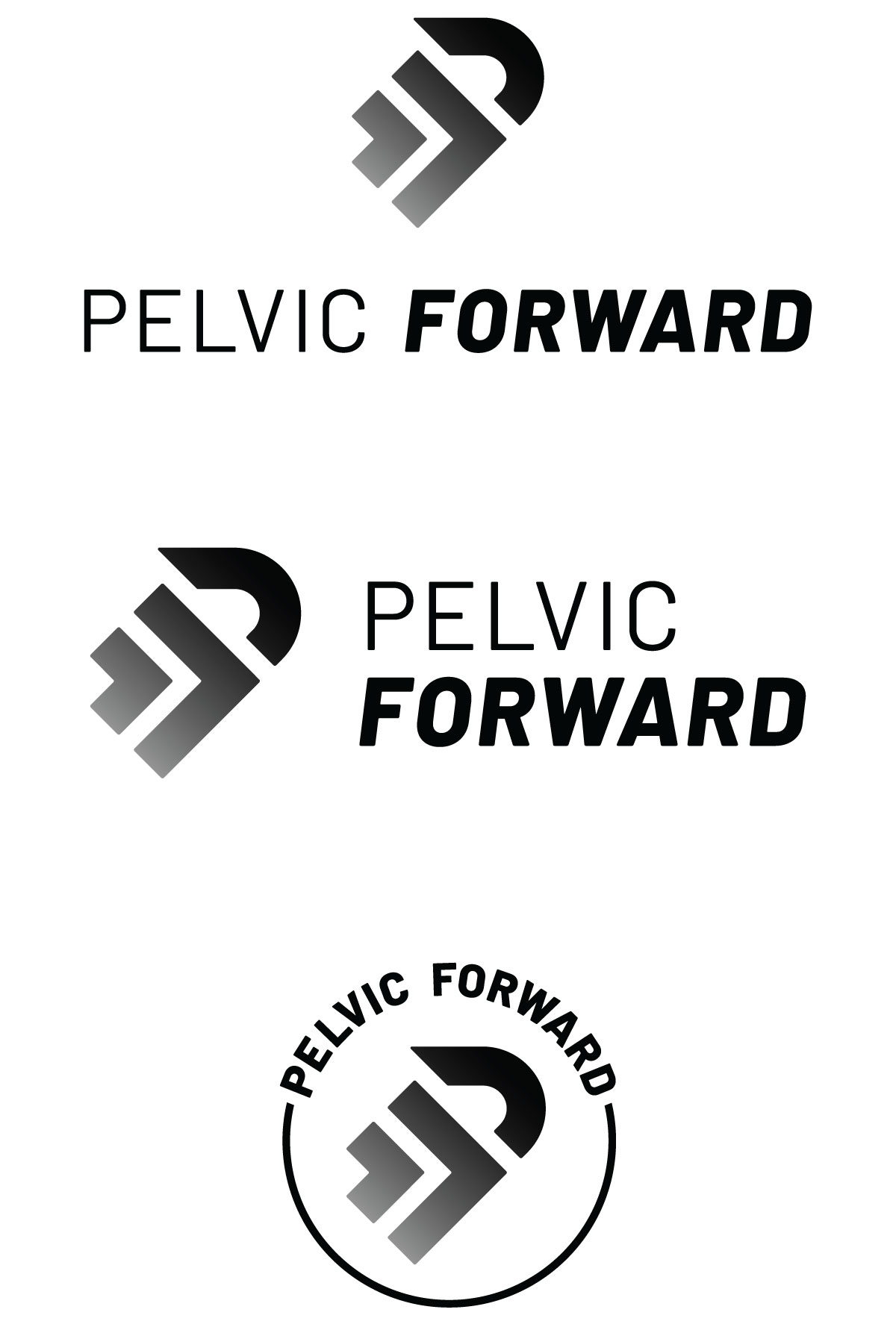 Vertical, horizontal, and round iterations ensure that a logo can be used successfully in different types of spaces.