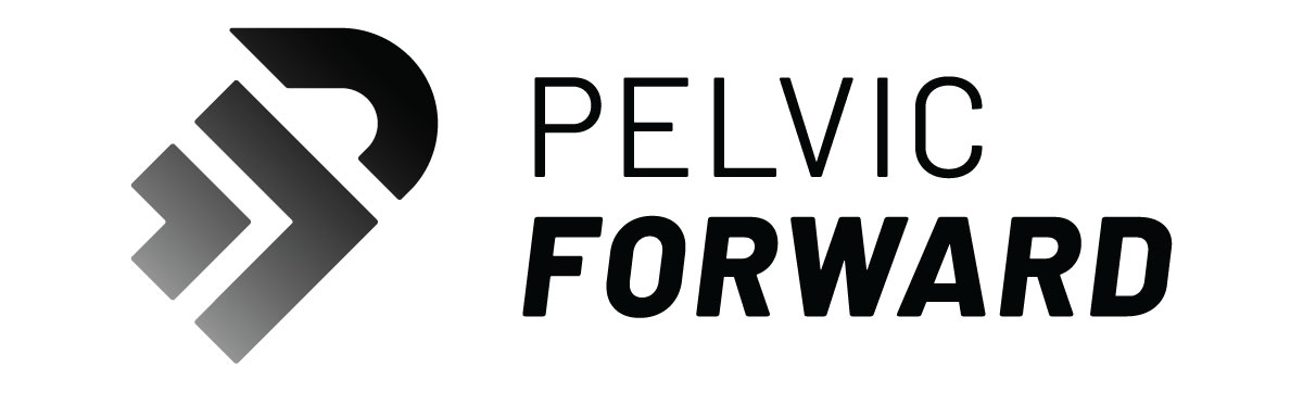 Pelvic Forward's    logo communicates energy and movement, speaking to customers with an interest in health, fitness, and an active lifestyle.