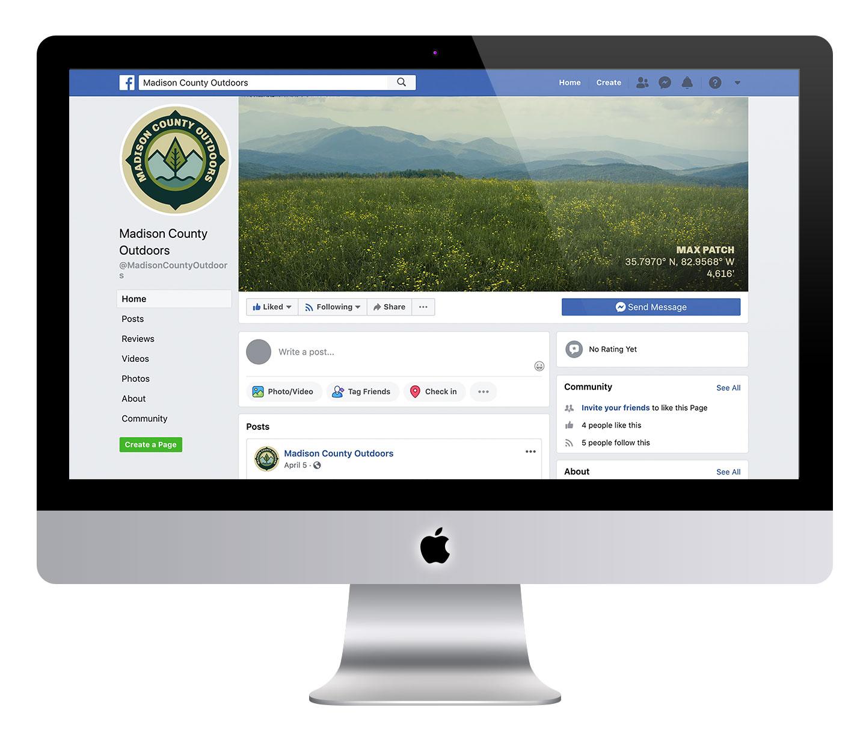 asheville nc social media icon design, asheville outdoors branding