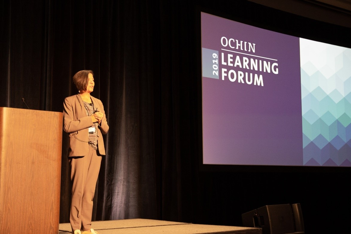 On Tuesday, attendees heard from Sandra R. Hernández, the CEO of the California Health Care Foundation, as she shared her insights into the future of health care from her view in California.