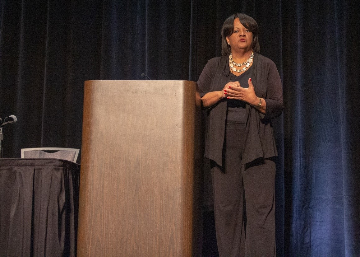 Keynote speaker Dr. Regina Benjamin, 18th Surgeon General and Founder and CEO of Bayou Clinic, Inc. and the Gulf States Health Policy Center.