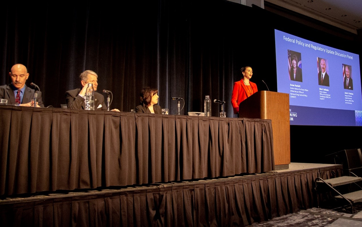 Jennifer Stoll, OCHIN EVP of Government Relations and Public Affairs, leads a Federal Policy and Regulatory Update Panel.