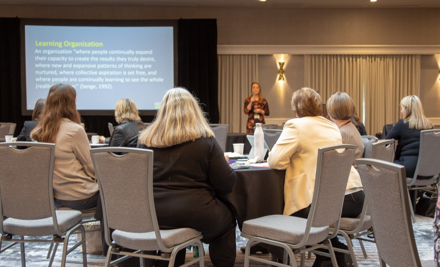"""Cally Johnson, OCHIN Quality & Process Improvement Supervisor, facilitates the session, """"Fostering a High Performing Learning Organizations: Part II Workshop."""""""
