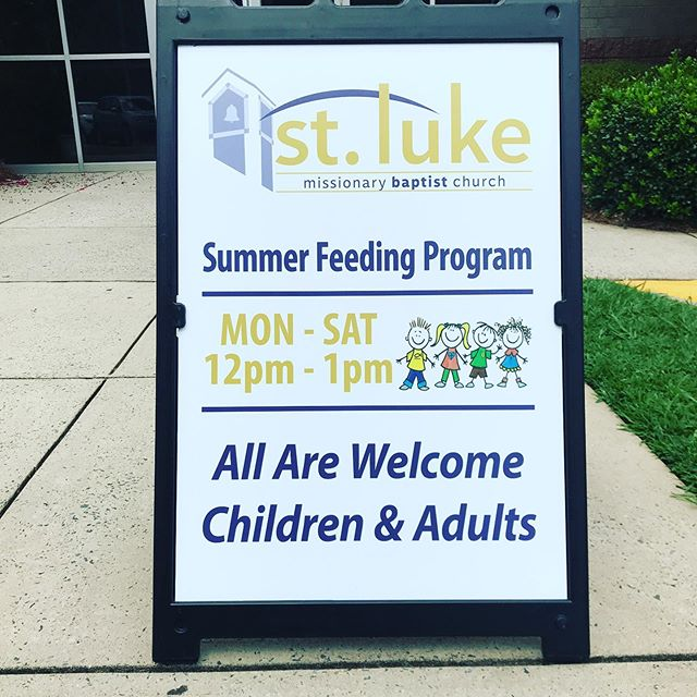 Did you know.. @stlukembc (off of Statesville Ave.) has a free summer lunch program? Kids and adults can come from 12-1pm during the week in the summer ☀️ be sure to share with your neighbors  and organizations. . . . #druidhills #druidhillsnc #druidhillsclt #charlottenc #northendclt #statesvilleave #community #tryonhills #doubleoaks #genesispark #greenvilleclt #lockwood