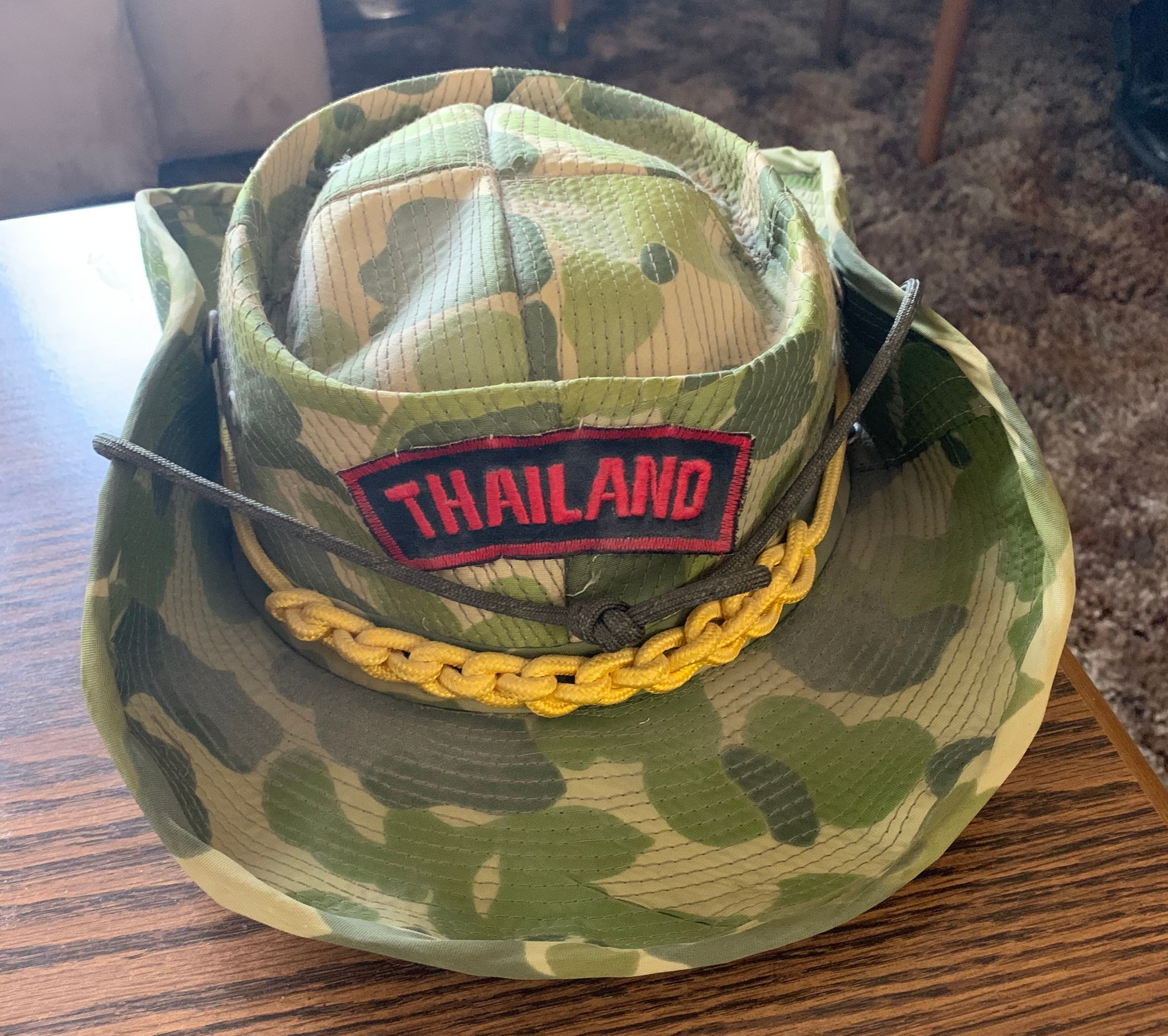 Jerry's cap from Thailand.  Photo submitted by Allie Jennerjahn