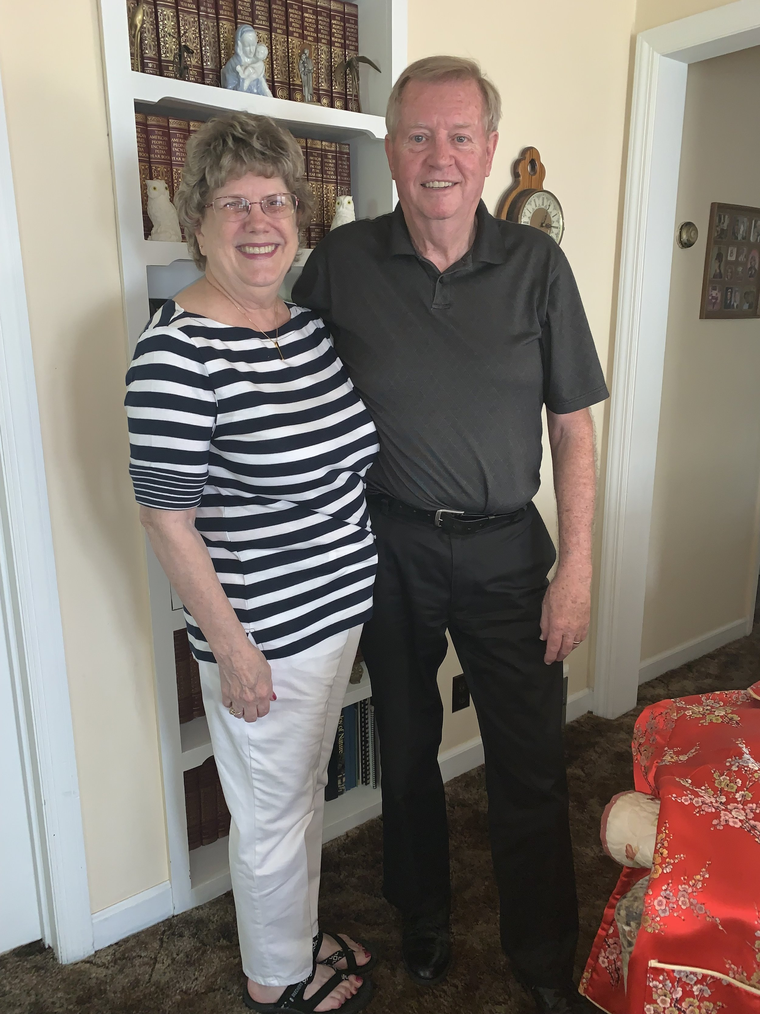 Mary and Jerry Ford smile for a picture in their home. The couple has been married now for 53 years.  Photo submitted by Allie Jennerjahn