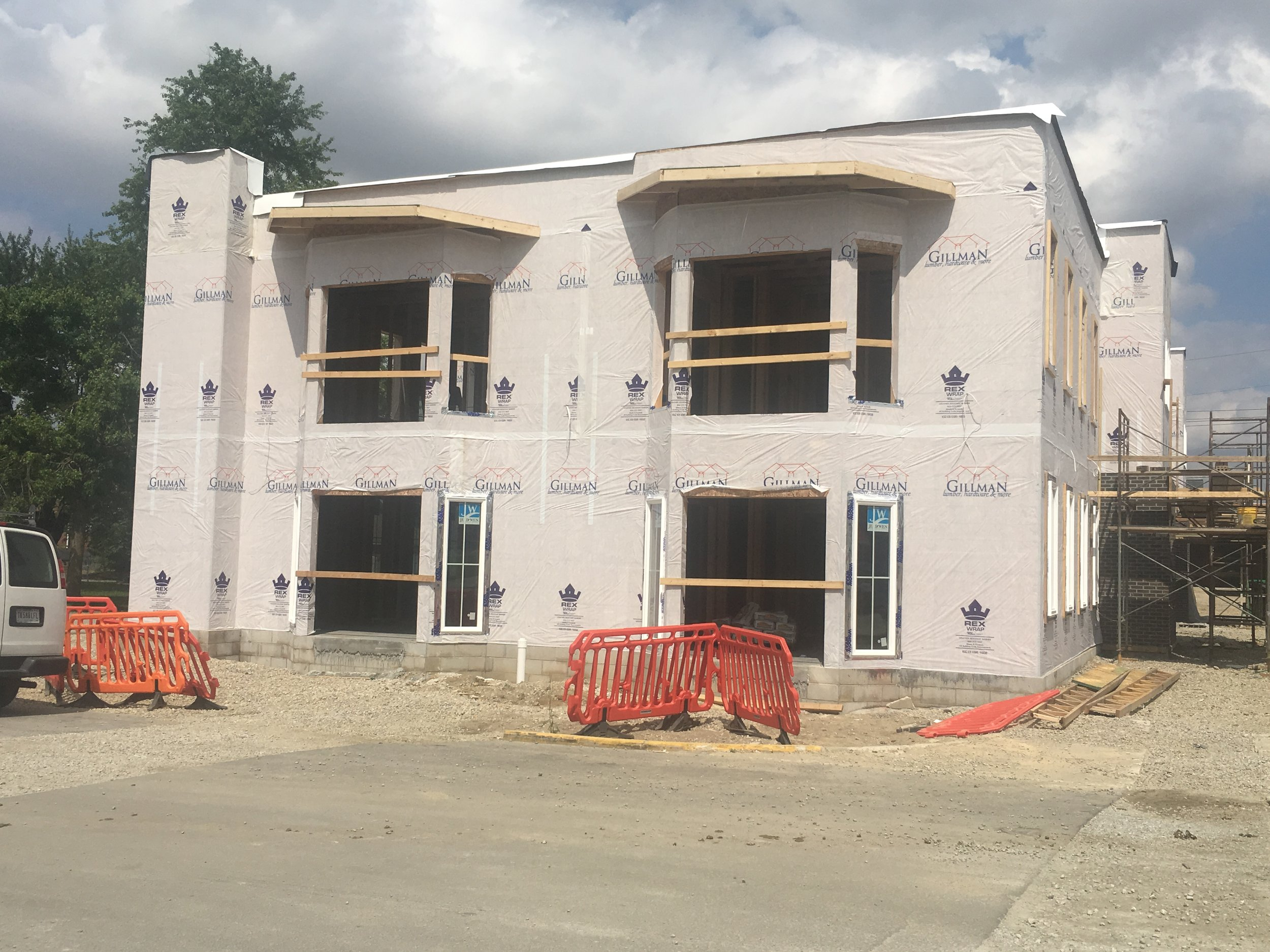 The Old Town Villas construction began in the spring. With 12-16 units, the rental complex will be the newest apartment complex in Hartford City.  Photo submitted by Bailey Cline