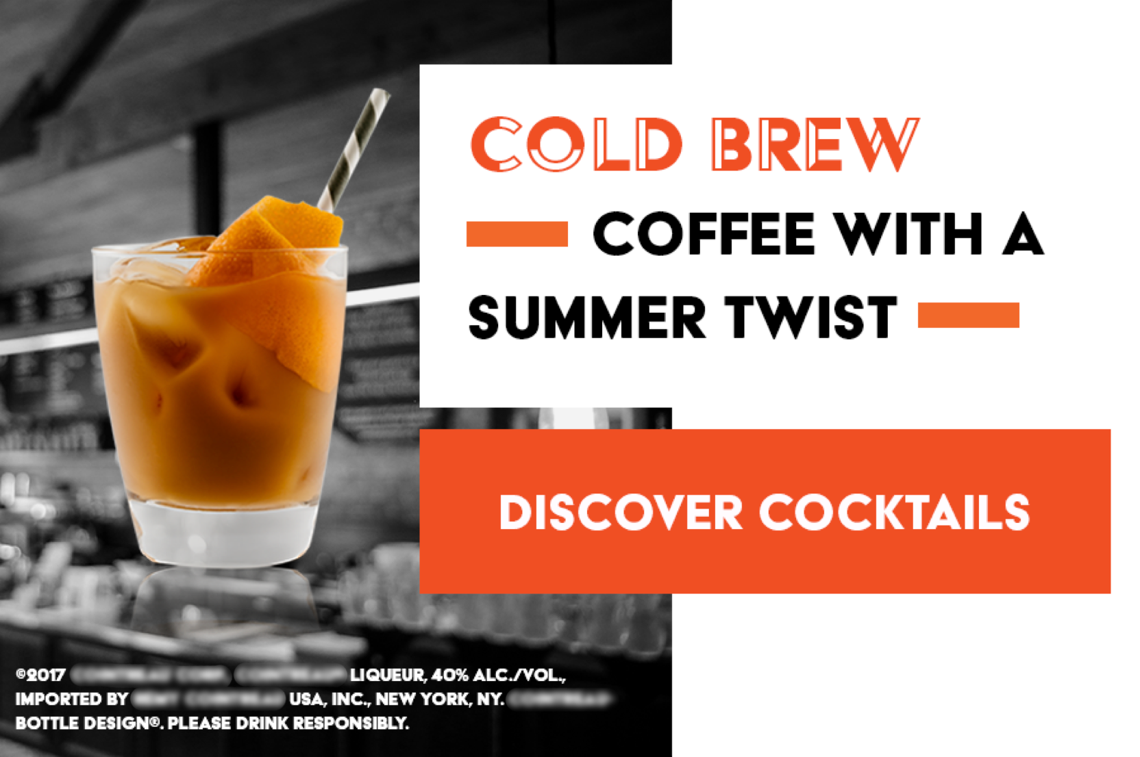 Discover Cocktails Cold Brew Pairings Unit