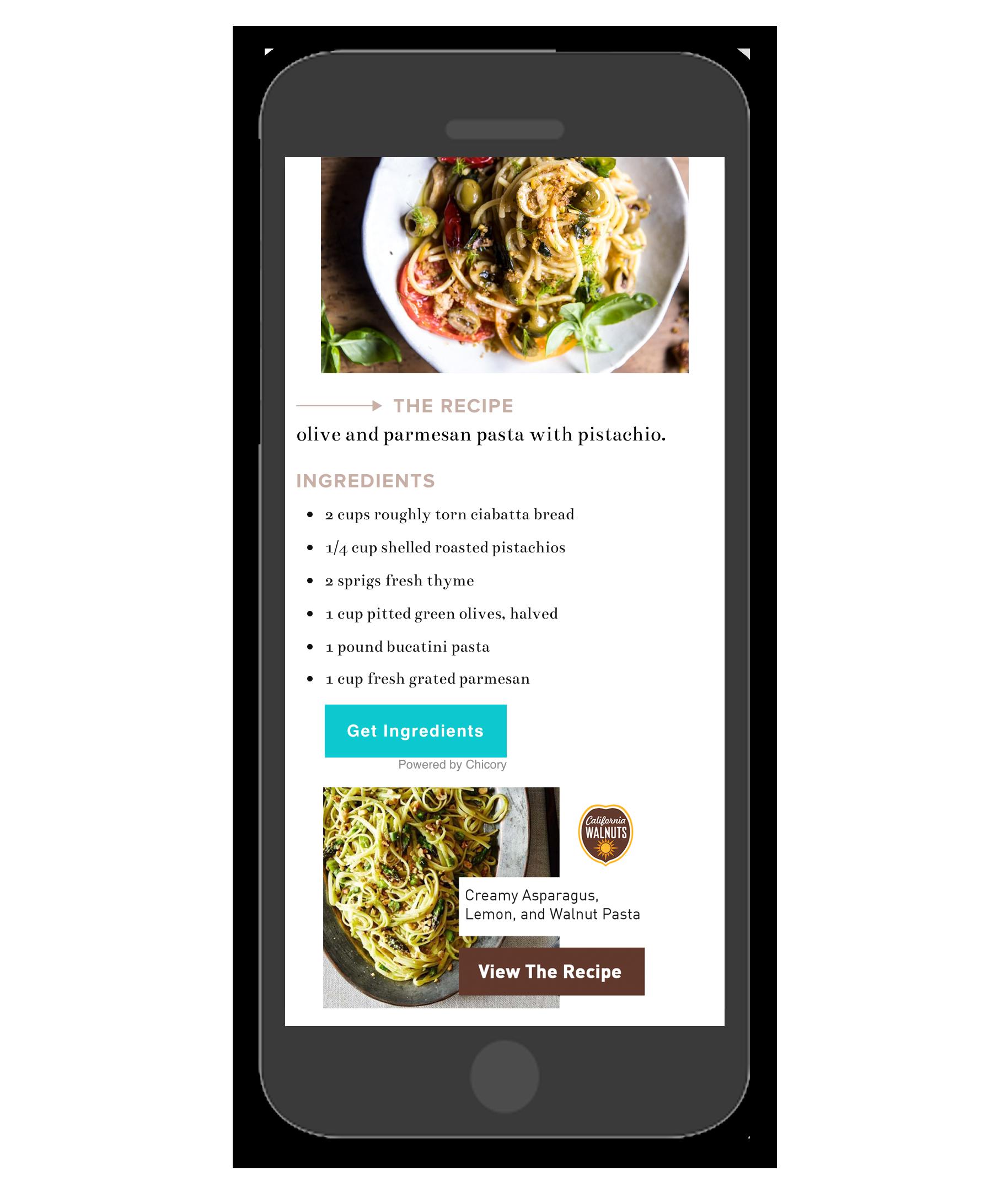 CA Walnuts Chicory Premium Pairings Ad Mockup