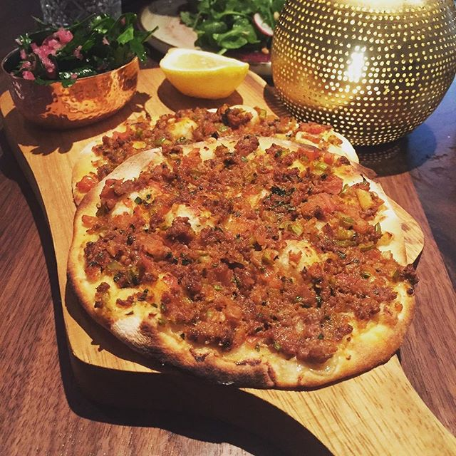 A favorite pick in-house and for guests alike -- Enjoy the spices of Turkey on our Lahmacun generously topped with our minced meat, sumac, and an aromatic mix of herbs and veggies. 📷 @joejsimon . . . #leyla74 #turkishcuisine #turkishfood #uws #upperwestsidenyc #nycrestaurants #restaurantsofnyc #nyceats #foodienyc #eatingnyc #diningnyc #brasserieny #turkishfood  #lincolncenter #centralpark