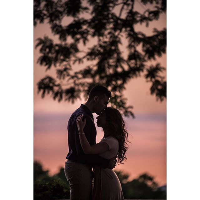 Uros + Michelle #engaged #detroit #belleisle #michigan #sunset #engagementphotos #love #moment