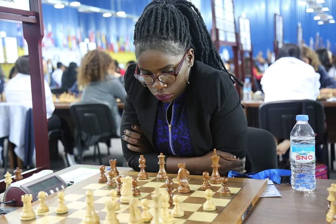 Phiona Mutesi is leading the 2018 Ugandan Women's Team on Board 1