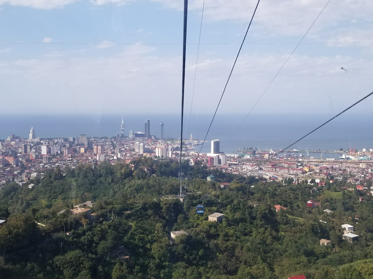 View of Batumi from the cable car