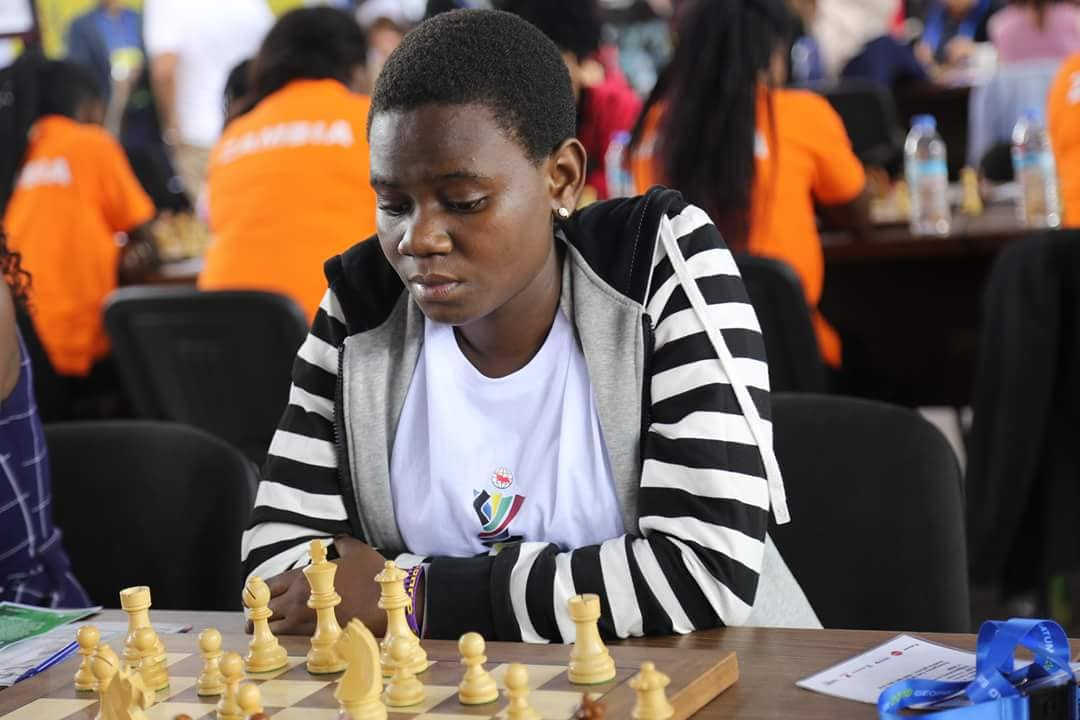 Gloria Nansubuga at the World Chess Olympiad