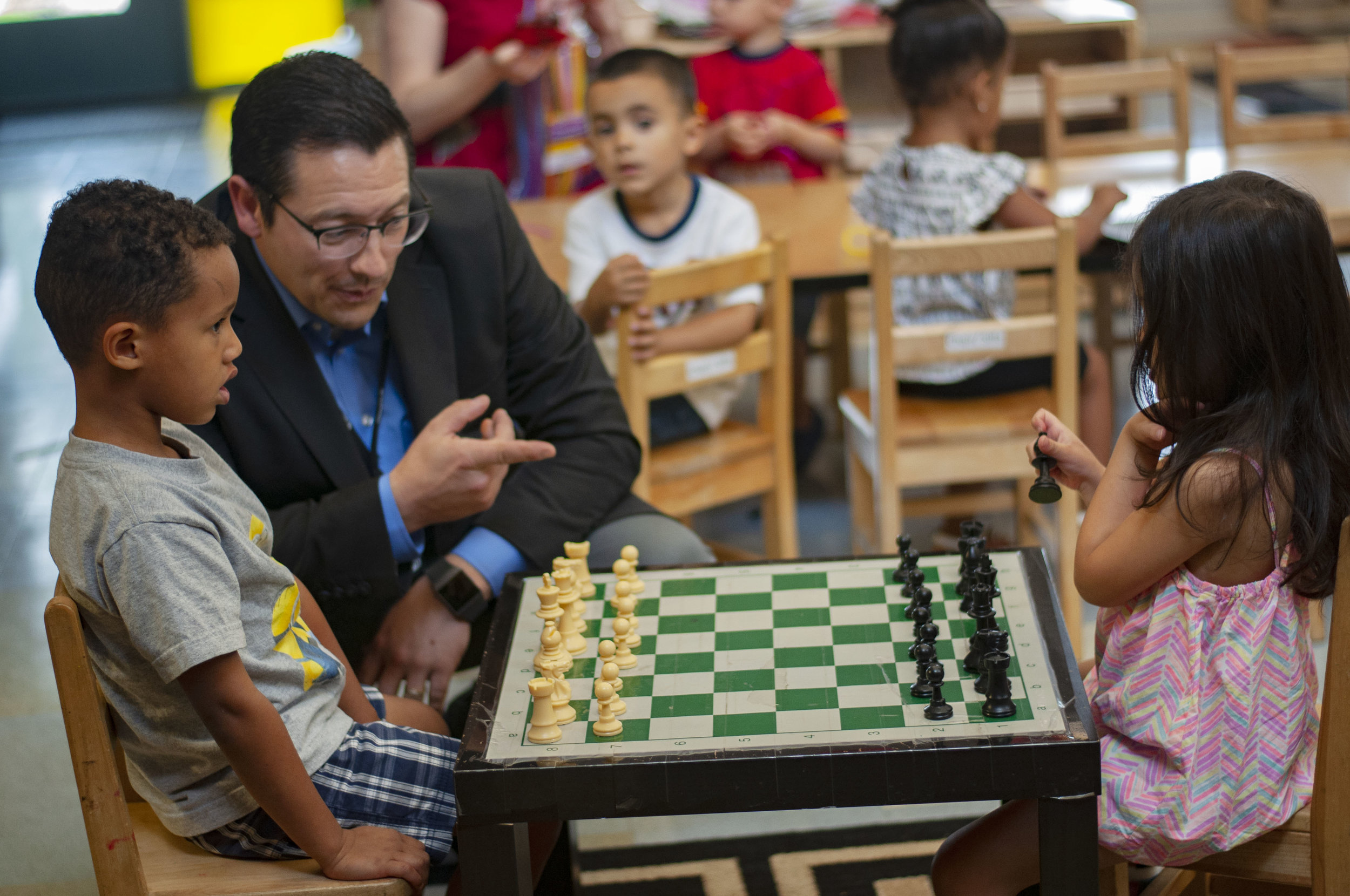 Playing chess with preschoolers
