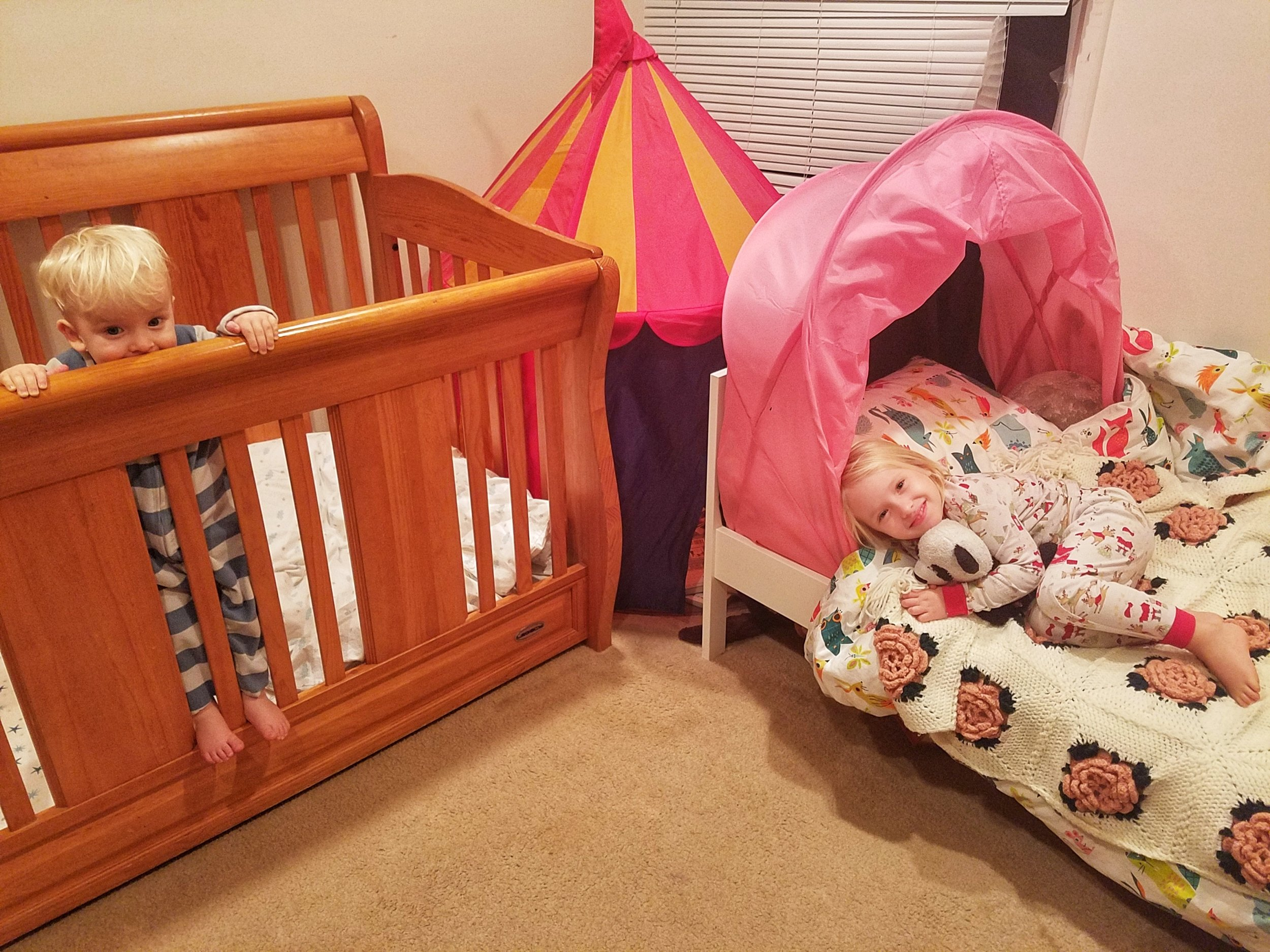 baby and toddler room share