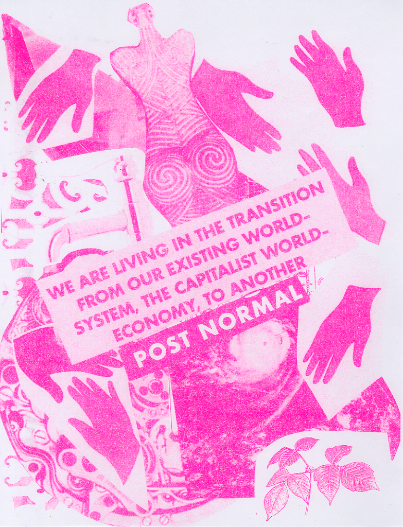 we are living…post normal - PINK (2019) - risograph / mixed media / collage