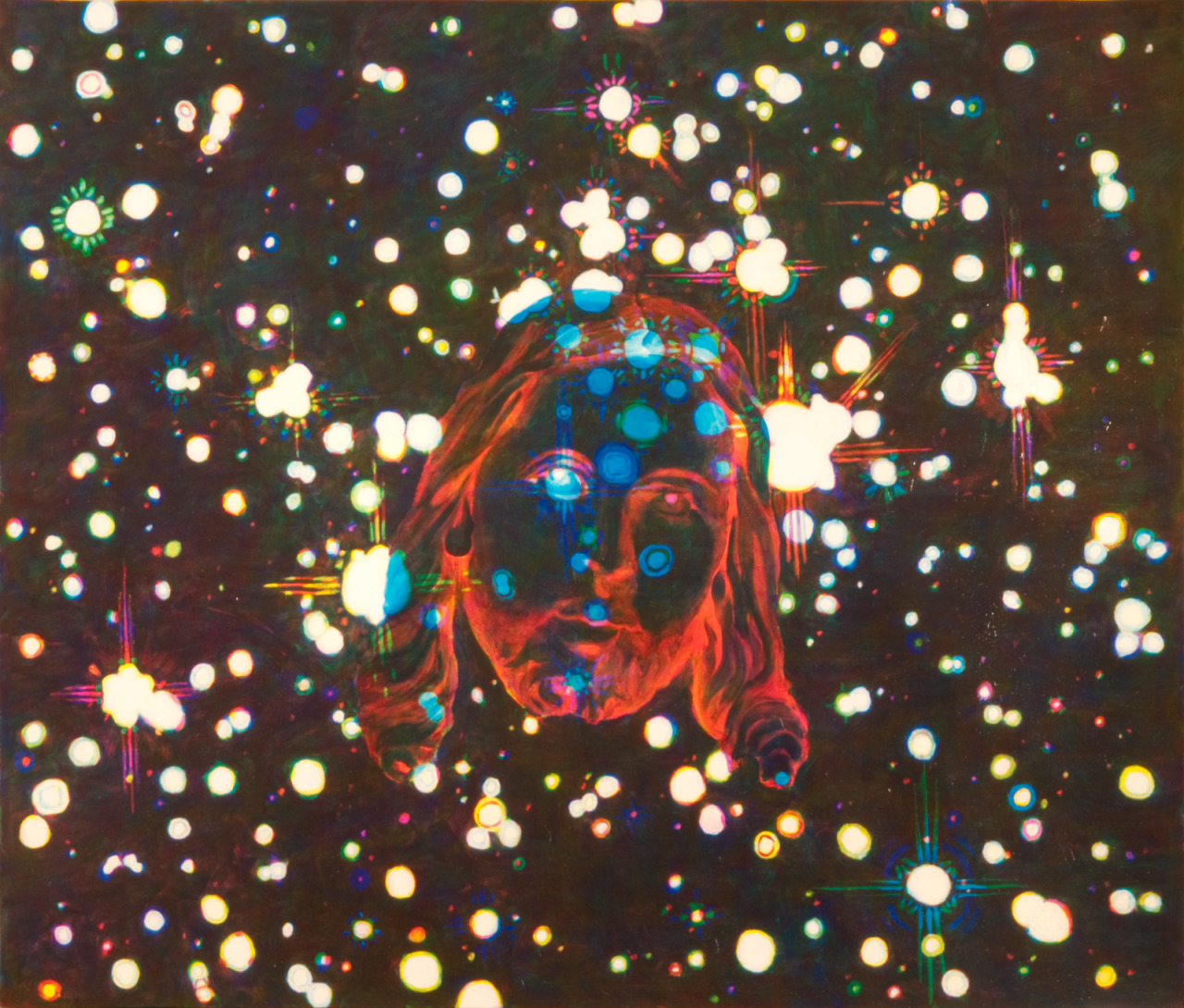 """Mystery/Elohim , 2009, oil on paper, 46"""" x 54"""""""