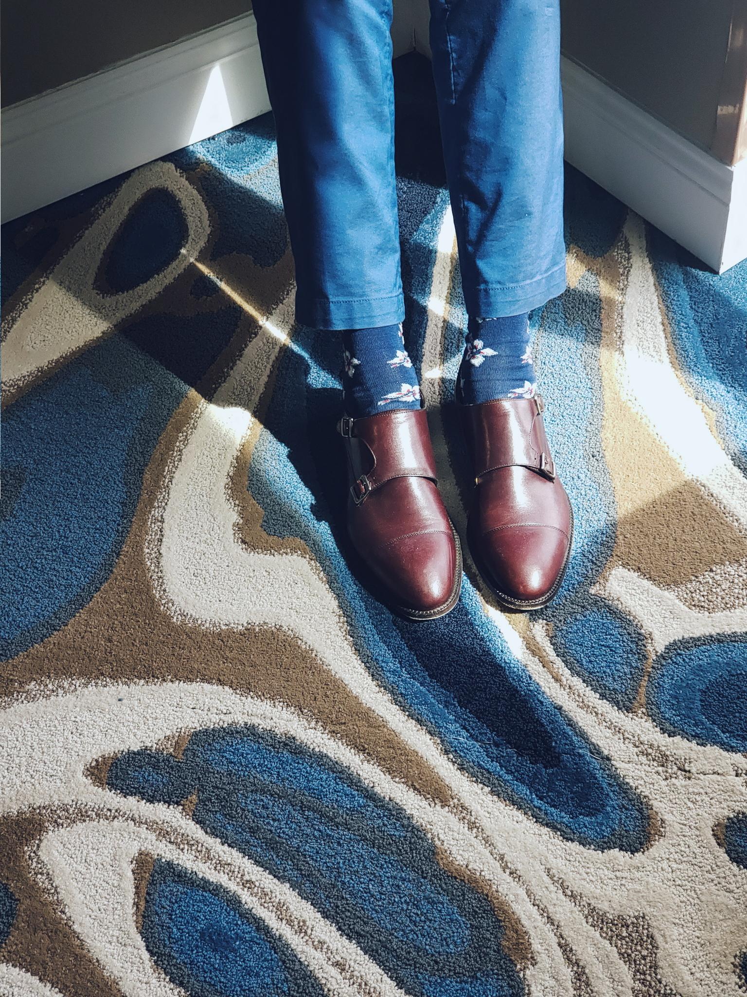 Beckett Simonon Shoes and Bugatchi Socks